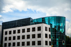 LUXEMBOURG - OCTOBER 30, 2015: Modern architecture of European buildings in Luxembourg. Royalty Free Stock Photo