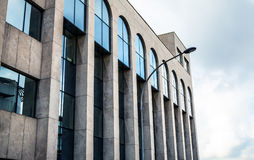 LUXEMBOURG - OCTOBER 30, 2015: Modern architecture of European buildings in Luxembourg. LUXEMBOURG - OCTOBER 30, 2015: Modern architecture of European buildings Royalty Free Stock Photography