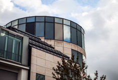 LUXEMBOURG - OCTOBER 30, 2015: Modern architecture of European buildings in Luxembourg. LUXEMBOURG - OCTOBER 30, 2015: Modern architecture of European buildings Royalty Free Stock Image