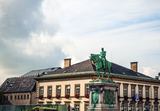 LUXEMBOURG -  OCTOBER 30 Statue of Grand Duke William II on Place Guillaume II, Luxembourg City. Stock Photography