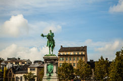 LUXEMBOURG -  OCTOBER 30 Statue of Grand Duke William II on Place Guillaume II, Luxembourg City. Stock Images