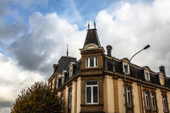 LUXEMBOURG - OCTOBER 30, 2015: Traditional architecture of vintage European buildings & landmarks in Luxembourg. Royalty Free Stock Images