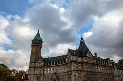 LUXEMBOURG - OCTOBER 30, 2015: Traditional architecture of vintage European buildings & landmarks in Luxembourg. LUXEMBOURG - OCTOBER 30, 2015: Traditional Royalty Free Stock Photos