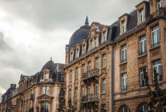 LUXEMBOURG - OCTOBER 30, 2015: Traditional architecture of vintage European buildings & landmarks in Luxembourg. LUXEMBOURG - OCTOBER 30, 2015: Traditional Royalty Free Stock Image