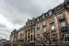 LUXEMBOURG - OCTOBER 30, 2015: Traditional architecture of vintage European buildings & landmarks in Luxembourg. LUXEMBOURG - OCTOBER 30, 2015: Traditional Royalty Free Stock Images