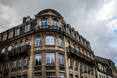 LUXEMBOURG - OCTOBER 30, 2015: Traditional architecture of vintage European buildings & landmarks in Luxembourg. LUXEMBOURG - OCTOBER 30, 2015: Traditional Royalty Free Stock Photography