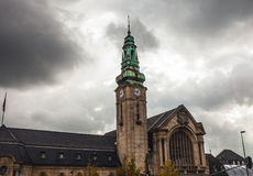 LUXEMBOURG - OCTOBER 30, 2015: Traditional architecture of vintage European buildings & landmarks in Luxembourg. LUXEMBOURG - OCTOBER 30, 2015: Traditional Stock Image