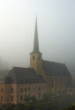 Luxembourg old monastery in the fog Royalty Free Stock Photos