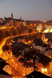 Luxembourg old town. Night scene Royalty Free Stock Photography