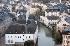 Luxembourg old town Royalty Free Stock Images