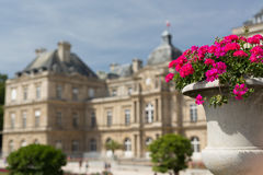 Luxembourg Palace. The beautiful palace of Luxembourg in Paris, France stock images