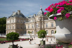 Luxembourg Palace. The beautiful palace of Luxembourg in Paris, France royalty free stock photo