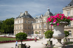 Luxembourg Palace. The beautiful palace of Luxembourg in Paris, France stock photos