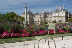 Luxembourg Palace. The beautiful palace of Luxembourg in Paris, France stock photo