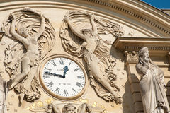 Luxembourg Palace - Clock. Luxembourg Palace in Paris - Luxembourg Gardens Stock Image