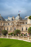 Luxembourg Palace facade in Luxembourg Gardens, Paris Stock Photography
