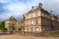 Luxembourg Palace facade in Luxembourg Gardens, Paris Royalty Free Stock Photos