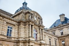 Luxembourg Palace in a freezing winter day day just before spring. The Luxembourg Palace in a freezing winter day day just before spring stock photos