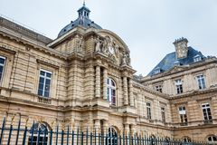 Luxembourg Palace in a freezing winter day day just before spring. The Luxembourg Palace in a freezing winter day day just before spring royalty free stock photo