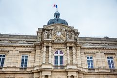 Luxembourg Palace in a freezing winter day day just before spring. The Luxembourg Palace in a freezing winter day day just before spring stock image