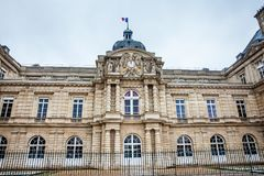 Luxembourg Palace in a freezing winter day day just before spring. The Luxembourg Palace in a freezing winter day day just before spring royalty free stock images