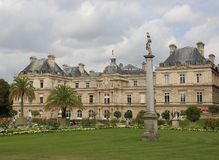 Luxembourg palace of French Senate in Paris. Paris, France - August 21, 2018: .Luxembourg palace of French Senate in Paris in France royalty free stock photos