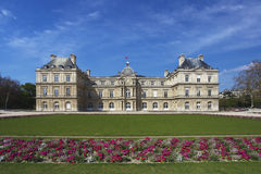 Luxembourg Palace and Garden in Paris Royalty Free Stock Photo