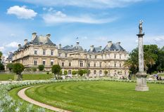 Luxembourg palace and garden in Paris, France royalty free stock photography
