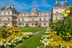 Luxembourg Palace and gardens, Paris. France Royalty Free Stock Image