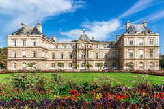 Luxembourg Palace. Luxembourg Gardens, Paris, France. September 11, 2015. Luxembourg Palace, built in 1612 by Marie de Medici, the widow of King Henry IV of royalty free stock images