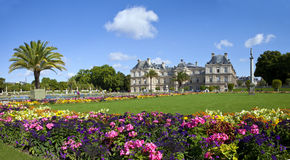 Luxembourg Palace In Jardin Du Luxembourg In Paris Stock Images