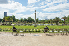 The Luxembourg Palace in The Jardin du Luxembourg or Luxembourg Royalty Free Stock Photo