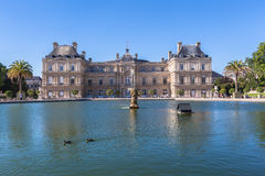 Luxembourg Palace in Jardin du Luxembourg Stock Images