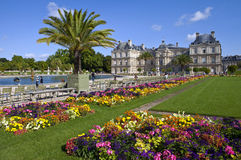 Luxembourg Palace in Jardin du Luxembourg in Paris Royalty Free Stock Photography