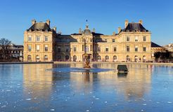 Luxembourg Palace in Jardin du Luxembourg, Paris, France.  stock photos