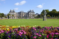 Luxembourg Palace in Jardin du Luxembourg in Paris Royalty Free Stock Photo