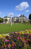 Luxembourg Palace in Jardin du Luxembourg in Paris Stock Image