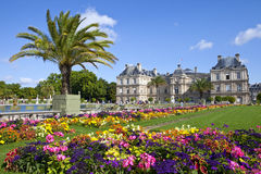 Luxembourg Palace in Jardin du Luxembourg in Paris Stock Photos