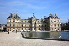 Luxembourg Palace in the Luxembourg Gardens. Paris Stock Photography