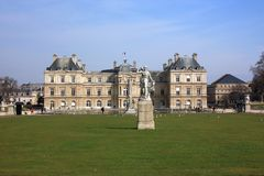 Luxembourg Palace in the Luxembourg Gardens. Paris Royalty Free Stock Image