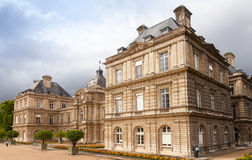 Luxembourg Palace in Luxembourg Gardens, Paris, France Stock Images