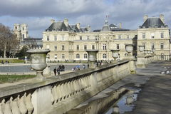 Luxembourg Palace, Paris. The famous Palais du Luxembourg (=Luxembourg Palace) in Paris, France. For details please see stock images