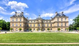 Luxembourg palace in Paris, France stock image