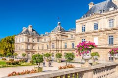 Luxembourg palace in Paris. France stock photography