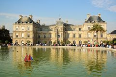 Luxembourg Palace in Paris, France Stock Images
