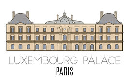 Luxembourg Palace, Paris Royalty Free Stock Images