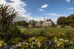 Luxembourg Palace and park Royalty Free Stock Images
