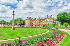 Luxembourg Palace and park in Paris . Stock Images