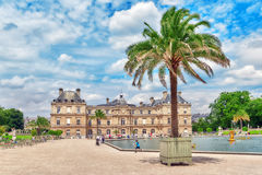 Luxembourg Palace and park in Paris . Royalty Free Stock Photography