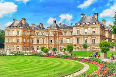 Luxembourg Palace and park in Paris, the Jardin du Luxembourg, Stock Image